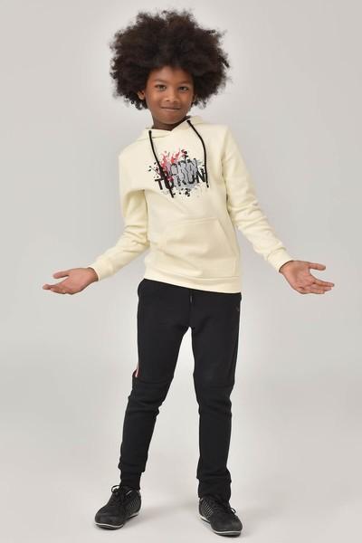 BİLCEE - Bilcee Krem Unisex Çocuk Sweatshirt FW-1491