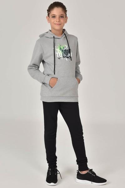 BİLCEE - Bilcee Gri Unisex Çocuk Sweatshirt FW-1491
