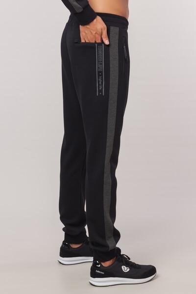 BİLCEE - Büyük Beden Siyah Erkek Eşofman Altı FW-1501