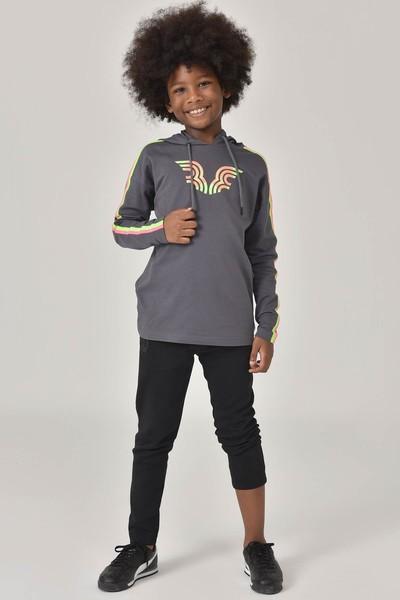 BİLCEE - Bilcee Gri Unisex Çocuk Sweatshirt FW-1513 (1)