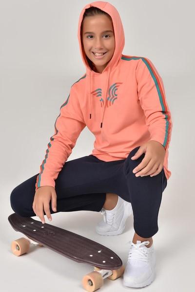BİLCEE - Bilcee Turuncu Unisex Çocuk Sweatshirt FW-1513