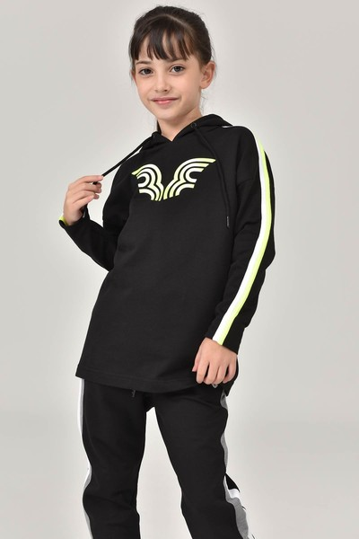 BİLCEE - Bilcee Siyah Unisex Çocuk Sweatshirt FW-1513