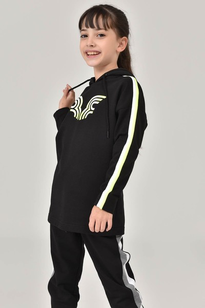 BİLCEE - Bilcee Siyah Unisex Çocuk Sweatshirt FW-1513 (1)