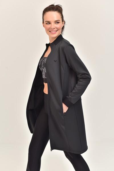 BİLCEE - Bilcee Füme Kadın Uzun Ceket GS-1516 (1)