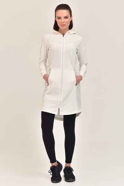 BİLCEE - Bilcee Bej Kadın Uzun Ceket GS-1522
