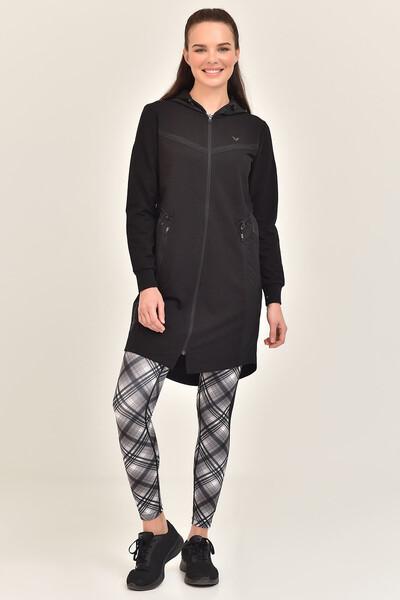 BİLCEE - Bilcee Siyah Kadın Uzun Ceket GS-1522