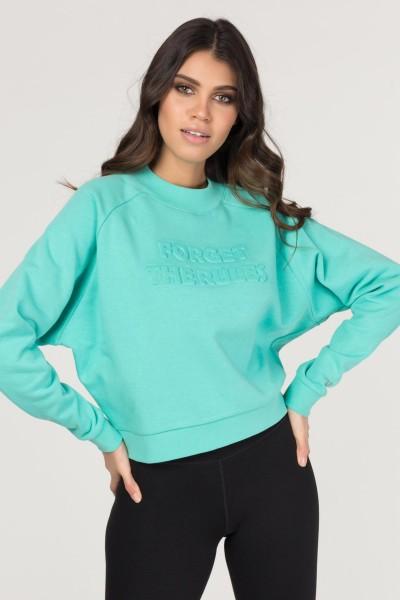 BİLCEE - Bilcee Turkuaz Kadın Sweatshirt DW-2814