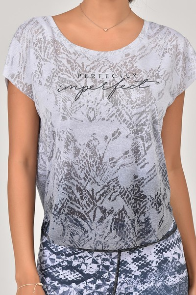 BİLCEE - Bilcee Beyaz Kadın T-Shirt ES-3572 (1)