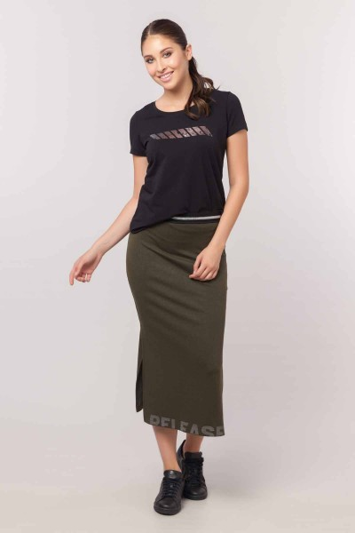 BİLCEE - Bilcee Kadın Likralı Pamuklu T-Shirt EW-3006 (1)