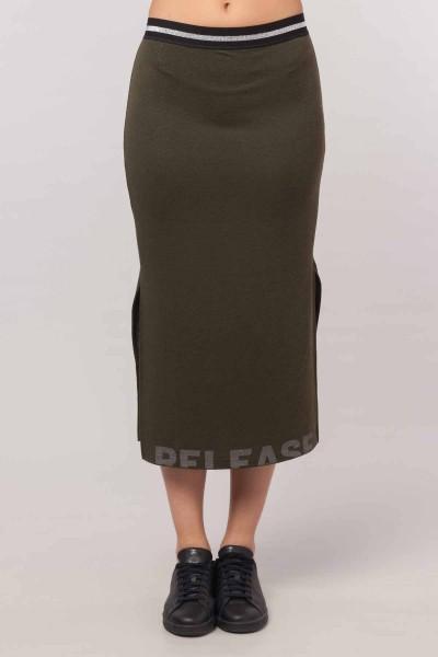 BİLCEE - Bilcee Yeşil Kadın Etek EW-3024