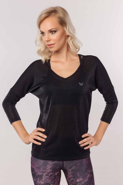 BİLCEE - Bilcee Kadın Simli T-Shirt EW-3026