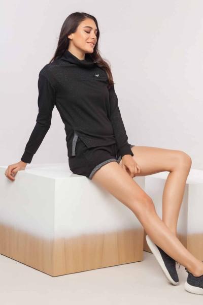 BİLCEE - Bilcee Simli Kadın Sweatshirt EW-3031 (1)