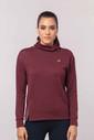 Bilcee Bordo Simli Kadın Sweatshirt EW-3031 - Thumbnail