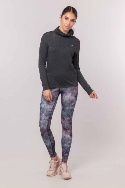 BİLCEE - Bilcee Gri Simli Kadın Sweatshirt EW-3031 (1)