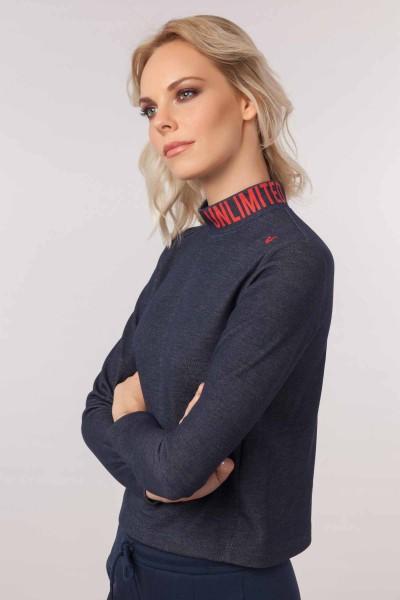 BİLCEE - Bilcee Lacivert Kadın Sweatshirt EW-3062 (1)