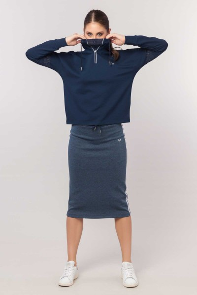 BİLCEE - Bilcee Lacivert Kadın Sweatshirt EW-3067 (1)