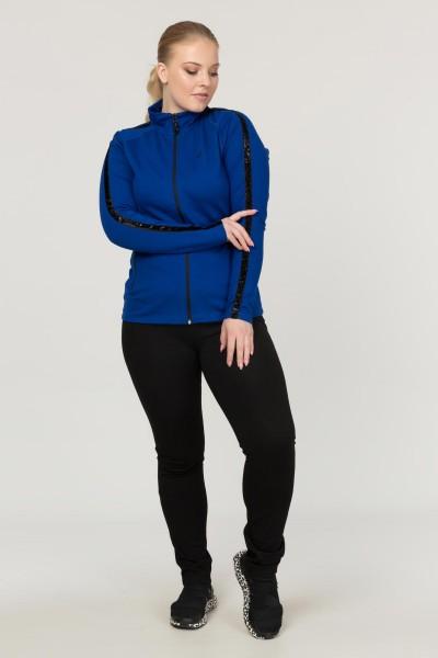 BİLCEE - Büyük Beden Mavi Kadın Eşofman Takımı EW-3130