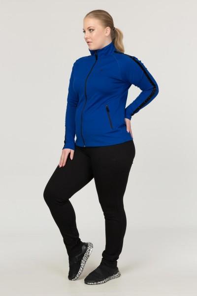 BİLCEE - Büyük Beden Mavi Kadın Eşofman Takımı EW-3130 (1)