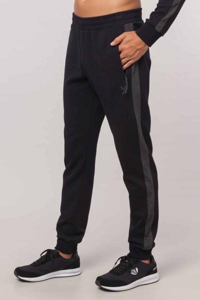 BİLCEE - Bilcee Siyah Pamuk/Poly Erkek Eşofman Altı EW-6106 (1)