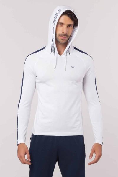 BİLCEE - Bilcee Beyaz Pamuklu Erkek Sweatshirt EW-6130