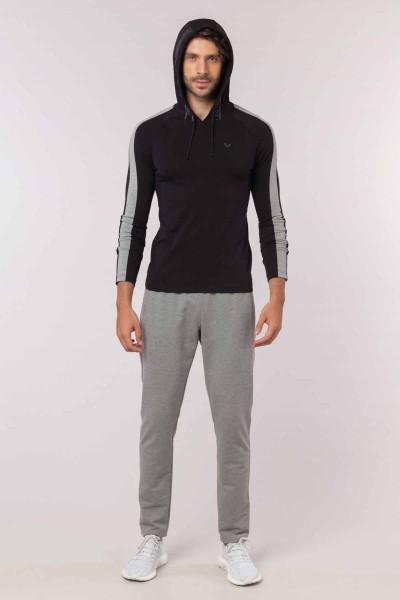 BİLCEE - Bilcee Siyah Pamuklu Erkek Sweatshirt EW-6130 (1)