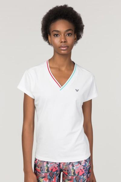 BİLCEE - Bilcee Beyaz Sırt Detaylı Kadın T-Shirt FS-1120