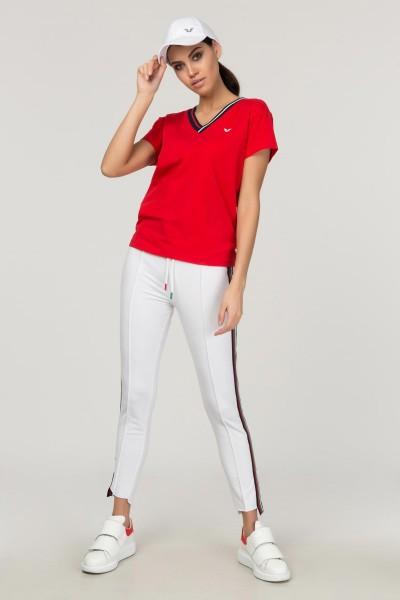 BİLCEE - Bilcee Kırmızı Sırt Detaylı Kadın T-Shirt FS-1120 (1)