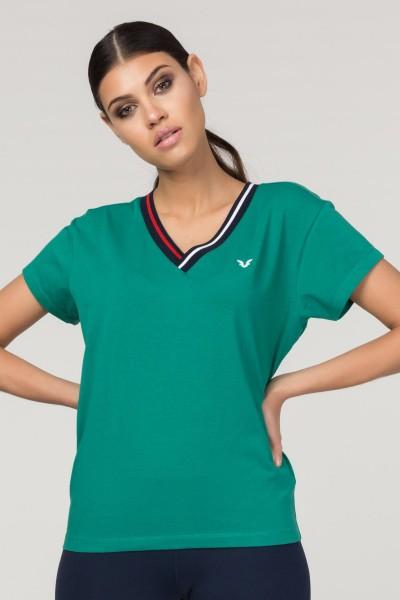 BİLCEE - Bilcee Yeşil Sırt Detaylı Kadın T-Shirt FS-1120