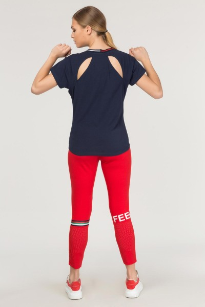 BİLCEE - Bilcee Kadın Sırt Detaylı T-Shirt FS-1120 (1)