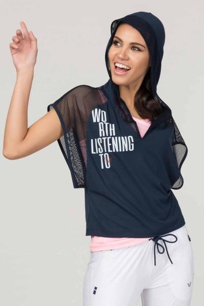 BİLCEE - Bilcee Lacivert Kadın Antrenman T-Shirt FS-1121