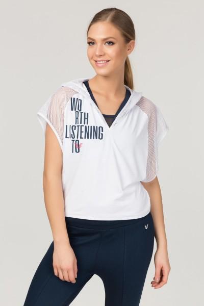 BİLCEE - Bilcee Beyaz Kadın Antrenman T-Shirt FS-1121