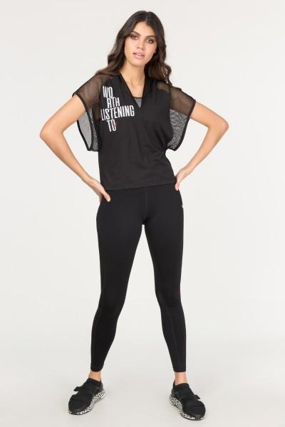 BİLCEE - Bilcee Siyah Kadın Antrenman T-Shirt FS-1121 (1)