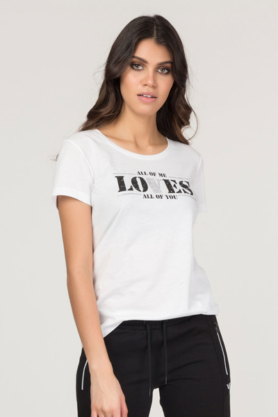 BİLCEE - Bilcee Pamuklu Kadın T-Shirt FS-1132