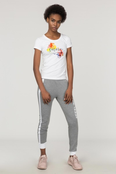 BİLCEE - Bilcee Kadın Baskılı T-Shirt FS-1140