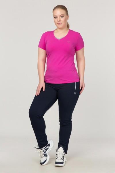 BİLCEE - Bilcee Pembe Büyük Beden Likralı Pamuklu Kadın T-Shirt FS-1171 (1)