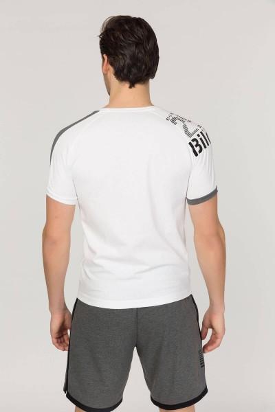 BİLCEE - Bilcee Beyaz Pamuklu Erkek T-Shirt FS-1312 (1)
