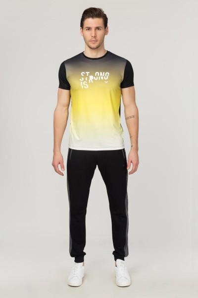 BİLCEE - Bilcee Sarı Erkek Antrenman T-Shirt FS-1612 (1)