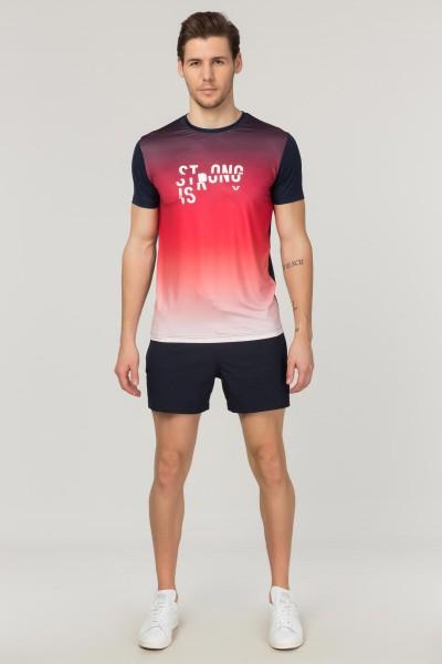 BİLCEE - Bilcee Kırmızı Erkek Antrenman T-Shirt FS-1612 (1)