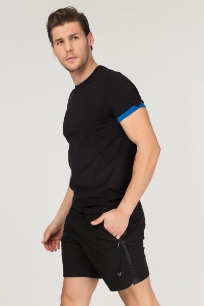 BİLCEE - Bilcee Siyah Pamuklu Erkek T-Shirt FS-1630 (1)