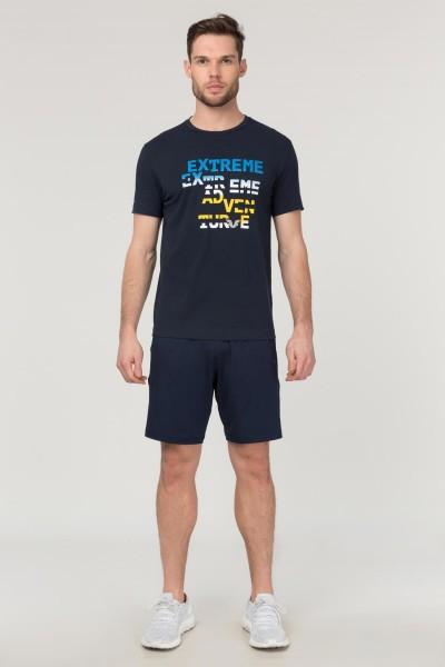 BİLCEE - Bilcee Lacivert Pamuklu Erkek T-Shirt FS-1674 (1)