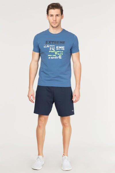 BİLCEE - Bilcee Mavi Pamuklu Erkek T-Shirt FS-1674 (1)