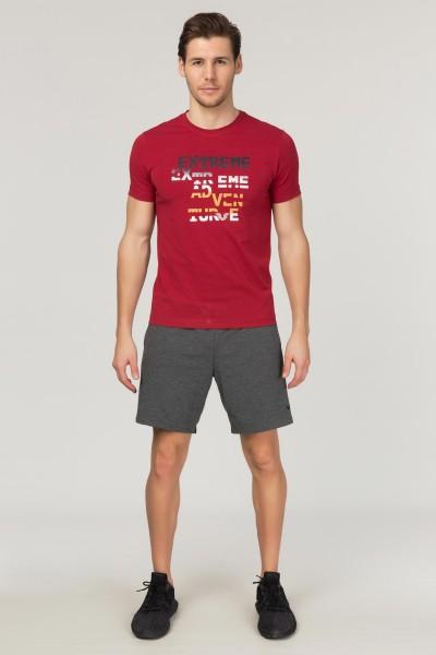 BİLCEE - Bilcee Bordo Pamuklu Erkek T-Shirt FS-1674 (1)