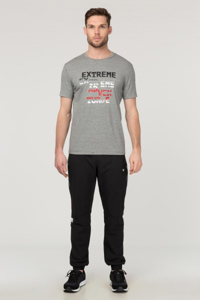 BİLCEE - Bilcee Gri Pamuklu Erkek T-Shirt FS-1674 (1)