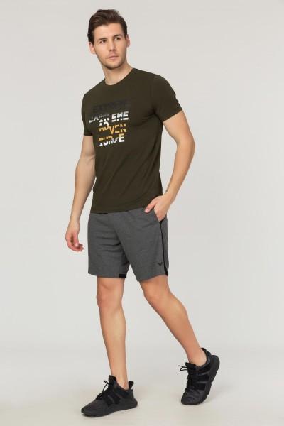 BİLCEE - Bilcee Yeşil Pamuklu Erkek T-Shirt FS-1674 (1)
