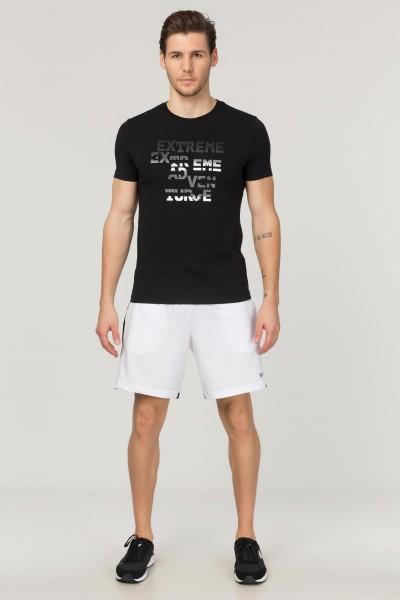 BİLCEE - Bilcee Siyah Pamuklu Erkek T-Shirt FS-1674 (1)