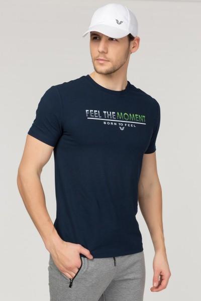 BİLCEE - Bilcee Lacivert Erkek Antrenman T-Shirt FS-1675