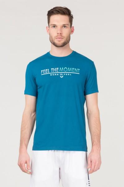 BİLCEE - Bilcee Mavi Erkek Antrenman T-Shirt FS-1675