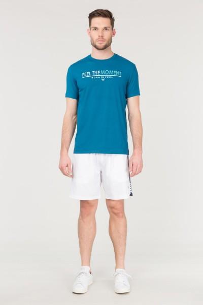 BİLCEE - Bilcee Mavi Erkek Antrenman T-Shirt FS-1675 (1)