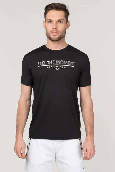 BİLCEE - Bilcee Siyah Erkek Antrenman T-Shirt FS-1675