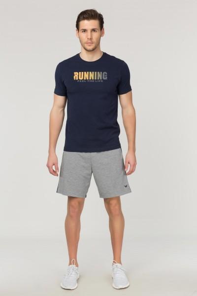 BİLCEE - Bilcee Lacivert Pamuklu Erkek T-Shirt FS-1681 (1)